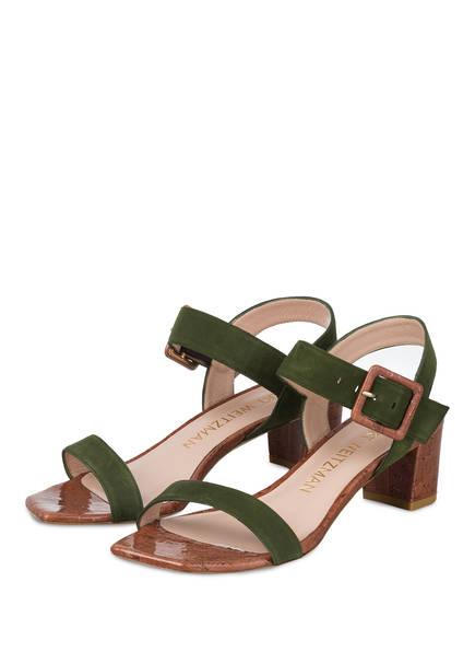 STUART WEITZMAN Sandaletten ALEXANDRINE 50, Farbe: OLIV (Bild 1)