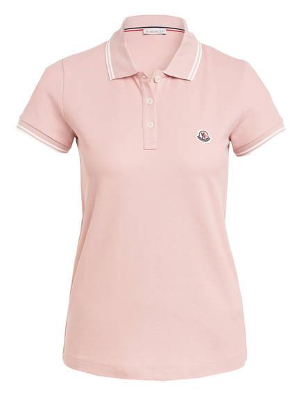 MONCLER Piqué-Poloshirt , Farbe: ROSÈ/ WEISS (Bild 1)