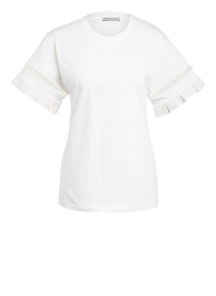 MONCLER T-Shirt mit Rüschenbesatz, Farbe: CREME (Bild 1)