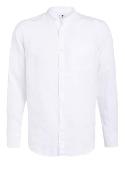 NN07 Leinenhemd JUSTIN Regular Fit mit Stehkragen, Farbe: WEISS (Bild 1)