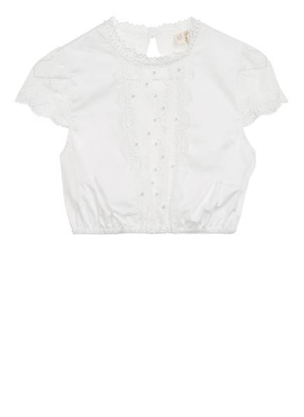 KRÜGER Dirndlbluse BERNA mit Perlenbesatz, Farbe: WEISS (Bild 1)
