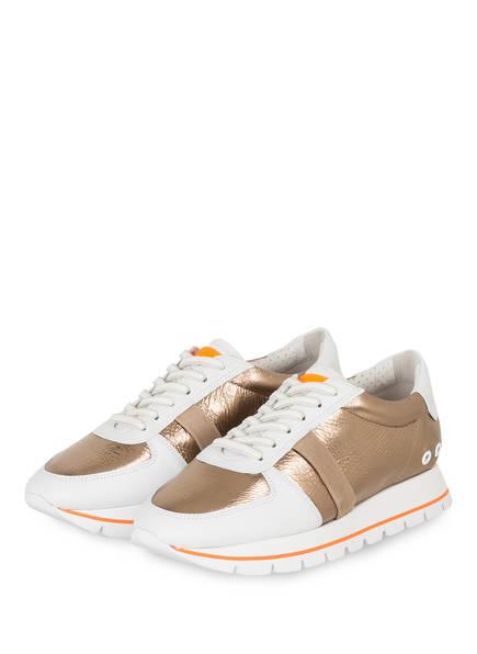 KENNEL & SCHMENGER Plateau-Sneaker GROOVE, Farbe: WEISS/ GOLD (Bild 1)