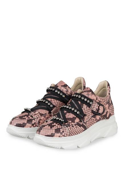 181 Plateau-Sneaker MACIS mit Schmucksteinbesatz, Farbe: ROSE/ SCHWARZ (Bild 1)