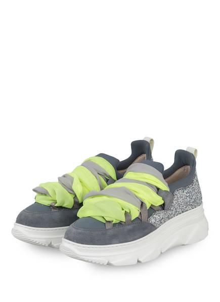 181 Plateau-Sneaker KYOG mit Schmucksteinbesatz, Farbe: GRAU (Bild 1)
