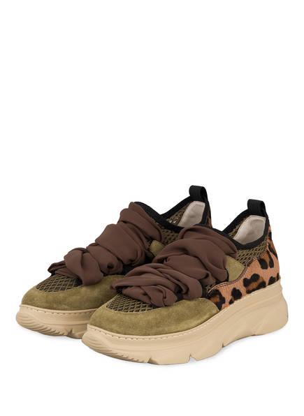 181 Plateau-Sneaker ANET, Farbe: OLIV/ KHAKI (Bild 1)