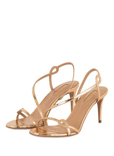 AQUAZZURA Sandaletten SERPENTINE, Farbe: GOLD (Bild 1)