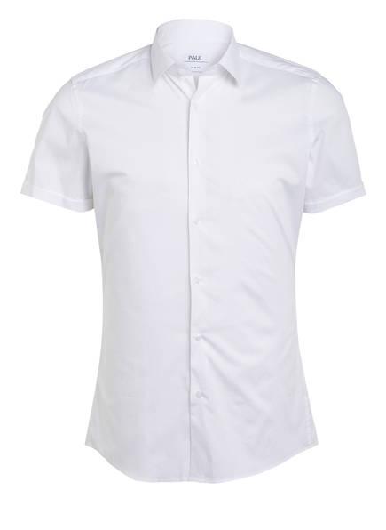PAUL Halbarm-Hemd Slim Fit, Farbe: WEISS (Bild 1)