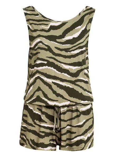 Juvia Jersey-Jumpsuit, Farbe: GRÜN/ HELLROSA (Bild 1)