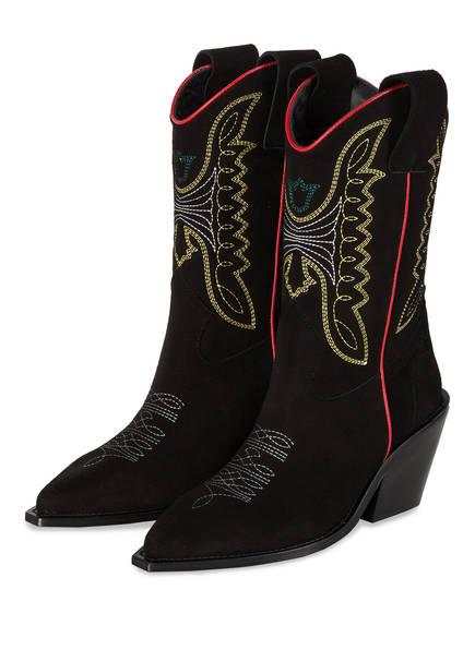 ZADIG&VOLTAIRE Cowboy Boots ROCKLAND, Farbe: SCHWARZ (Bild 1)