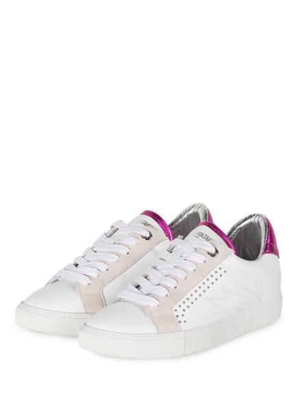 ZADIG&VOLTAIRE Sneaker ZV1747 mit Schmucksteinbesatz, Farbe: WEISS/ LILA (Bild 1)
