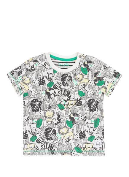 Sanetta KIDSWEAR T-Shirt, Farbe: WEISS/ SCHWARZ/ HELLGELB (Bild 1)