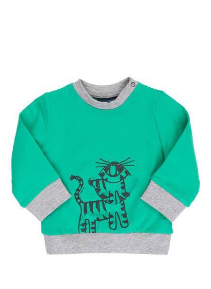 Sanetta KIDSWEAR Sweatshirt, Farbe: GRÜN/ HELLGRAU MELIERT (Bild 1)