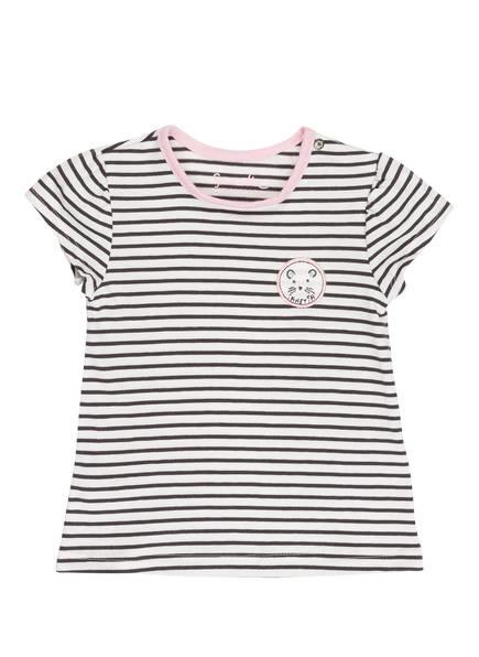 Sanetta KIDSWEAR T-Shirt, Farbe: CREME/ SCHWARZ/ ROSA GESTREIFT (Bild 1)