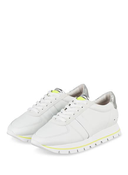 KENNEL & SCHMENGER Plateau-Sneaker GROOVE, Farbe: WEISS/ NEONGELB/ SILBER (Bild 1)