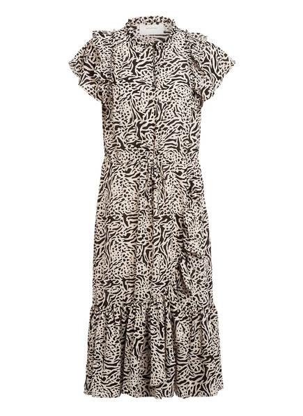 MUNTHE Kleid ERNIE mit Volantbesatz, Farbe: CREME/ SCHWARZ (Bild 1)