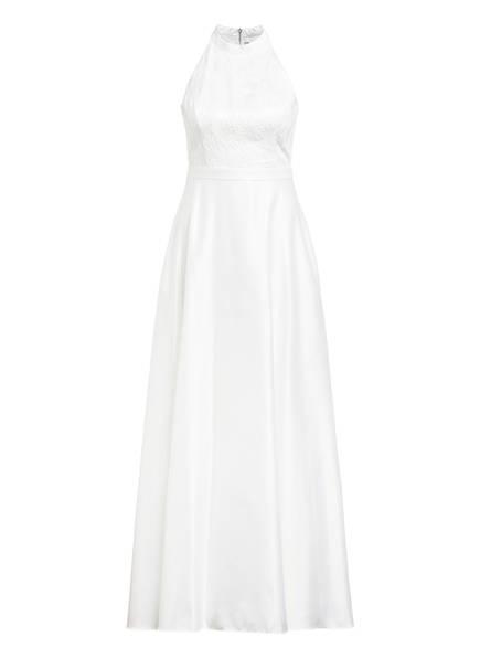 VM VERA MONT Satin-Abendkleid mit Paillettenbesatz, Farbe: WEISS (Bild 1)