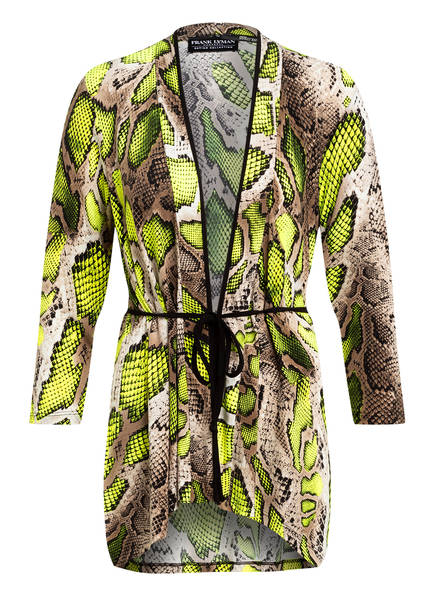 FRANK LYMAN Kimono mit 3/4-Arm , Farbe: NEONGELB/ TAUPE (Bild 1)