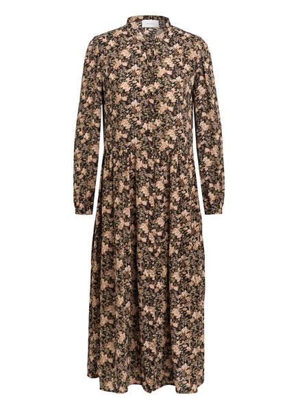 NEO NOIR Kleid ANNY , Farbe: SCHWARZ/ HELLBEIGE/ GRÜN (Bild 1)