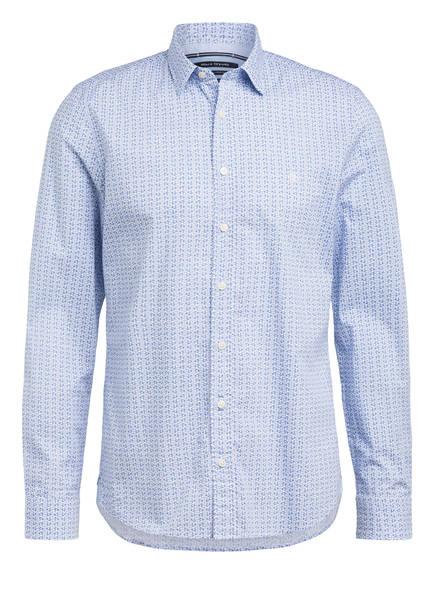 Marc O'Polo Hemd Shaped Fit, Farbe: WEISS/ BLAU (Bild 1)