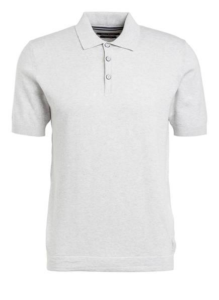 Marc O'Polo Strick-Poloshirt, Farbe: GRAU MELIERT (Bild 1)