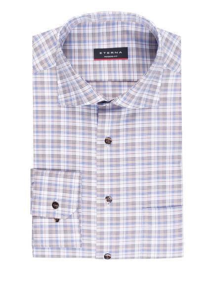ETERNA Hemd Modern Fit, Farbe: WEISS/ BLAU/ BRAUN (Bild 1)