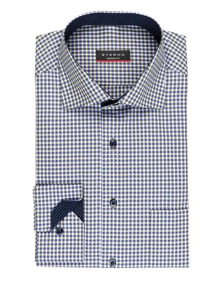 ETERNA Hemd Modern Fit, Farbe: WEISS/ OLIV/ BLAU (Bild 1)
