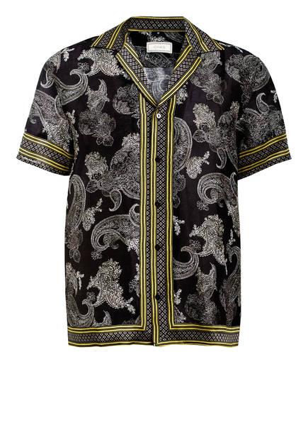 CHAS Resorthemd Comfort Fit aus Leinen, Farbe: SCHWARZ/ DUNKELGELB (Bild 1)