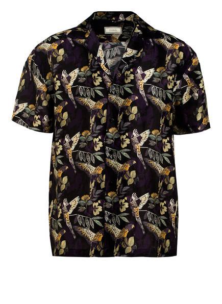 CHAS Resorthemd Comfort Fit aus Leinen, Farbe: SCHWARZ/ DUNKELLILA (Bild 1)