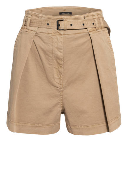 Marc O'Polo Paperbag-Shorts, Farbe: HELLBRAUN (Bild 1)