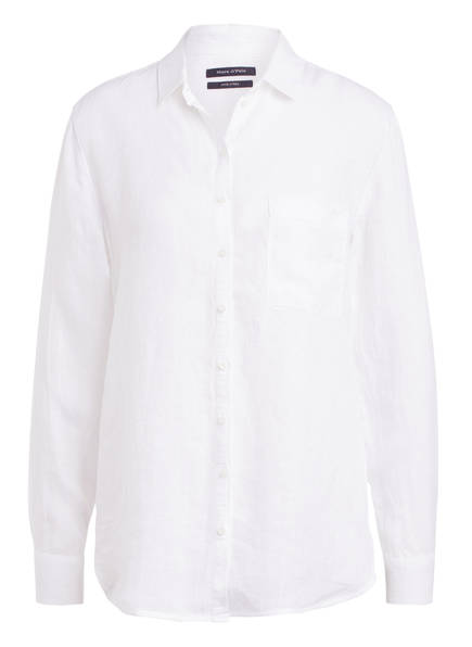 Marc O'Polo Hemdbluse aus Leinen, Farbe: WEISS (Bild 1)