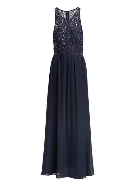 VM VERA MONT Abendkleid mit Spitzenbesatz, Farbe: DUNKELBLAU (Bild 1)