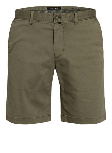 Marc O'Polo Chino-Shorts Slim Fit , Farbe: DUNKELGRÜN (Bild 1)