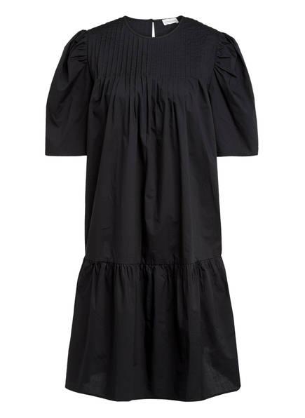 BY MALENE BIRGER Kleid ANINAH mit Volantbesatz, Farbe: SCHWARZ (Bild 1)