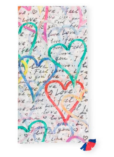 DARLING HARBOUR Schal, Farbe: WEISS/ BLAU/ GRÜN (Bild 1)