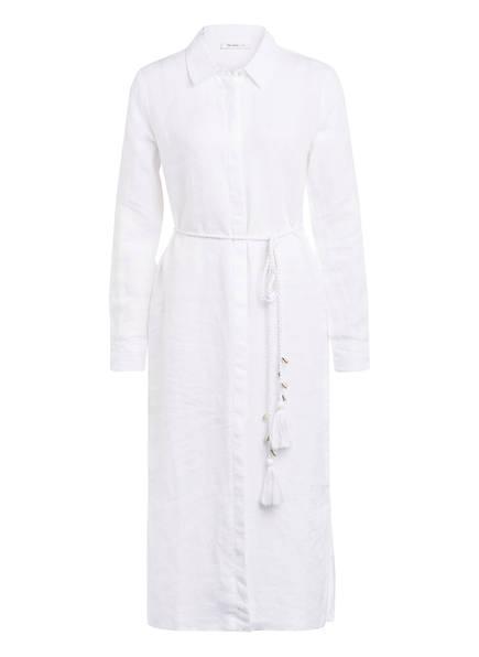 rich&royal Hemdblusenkleid aus Leinen, Farbe: WEISS (Bild 1)
