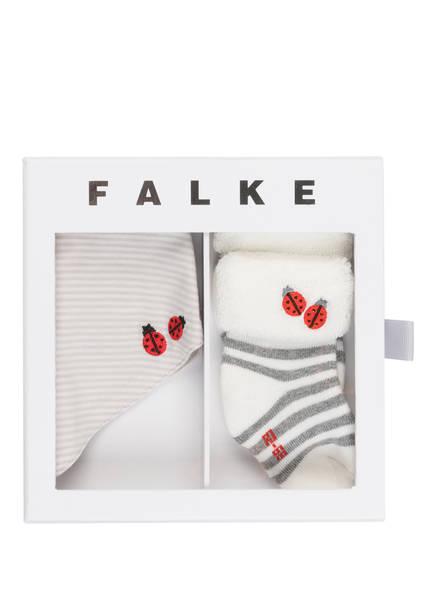 FALKE Set: Socken und Halstuch in Geschenkbox, Farbe: CREME/ TAUPE/ DUNKELGRAU (Bild 1)