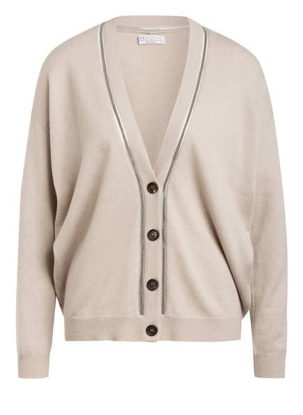 BRUNELLO CUCINELLI Strickjacke aus Cashmere, Farbe: BEIGE (Bild 1)
