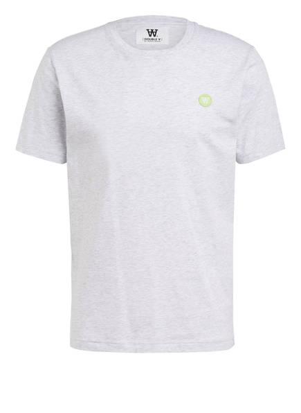 WOOD WOOD T-Shirt ACE, Farbe: HELLGRAU MELIERT (Bild 1)