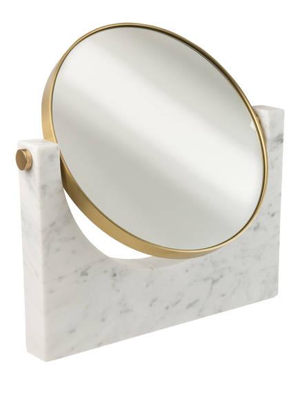 MENU Kosmetikspiegel PEPE aus Marmor, Farbe: WEISS/ GOLD (Bild 1)