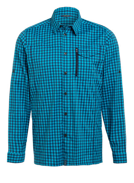 me°ru' Outdoor-Hemd BOSSOST, Farbe: TÜRKIS/ DUNKEL BLAU KARIERT (Bild 1)