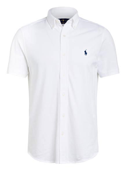 POLO RALPH LAUREN Halbarm-Hemd Regular Fit aus Piqué, Farbe: WEISS (Bild 1)