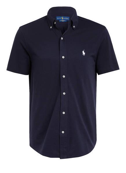 POLO RALPH LAUREN Kurzarm-Hemd Regular Fit aus Piqué, Farbe: DUNKELBLAU (Bild 1)