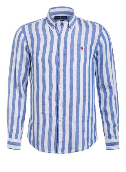 POLO RALPH LAUREN Leinenhemd Slim Fit, Farbe: BLAU/ WEISS GESTREIFT (Bild 1)