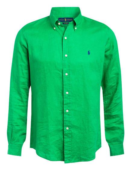 POLO RALPH LAUREN Leinenhemd Custom Fit, Farbe: GRÜN (Bild 1)