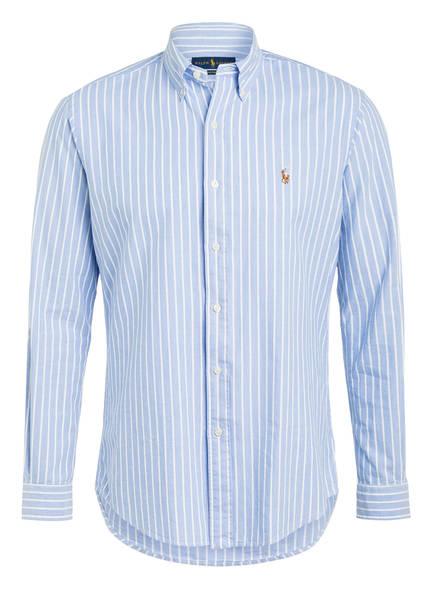 POLO RALPH LAUREN Oxford-Hemd Custom Fit, Farbe: HELLBLAU/ WEISS GESTREIFT (Bild 1)