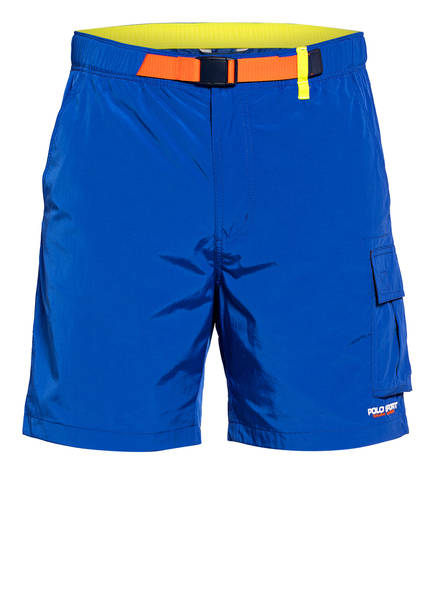 POLO RALPH LAUREN Cargo-Shorts, Farbe: BLAU/ ORANGE/ GELB (Bild 1)