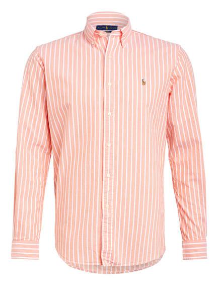 POLO RALPH LAUREN Hemd Custom Fit, Farbe: ORANGE/ WEISS GESTREIFT (Bild 1)