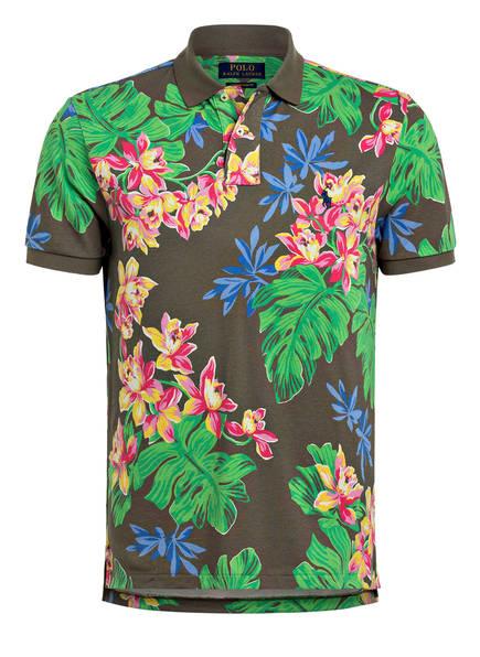 POLO RALPH LAUREN Piqué-Poloshirt, Farbe: KHAKI/ PINK/ GRÜN (Bild 1)