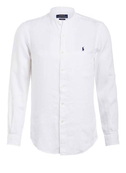 POLO RALPH LAUREN Leinenhemd Slim Fit mit Stehkragen, Farbe: WEISS (Bild 1)
