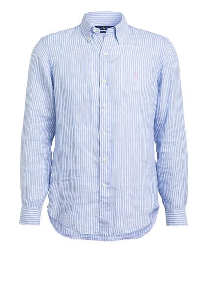 POLO RALPH LAUREN Leinenhemd Custom Fit, Farbe: HELLBLAU/ WEISS GESTREIFT (Bild 1)